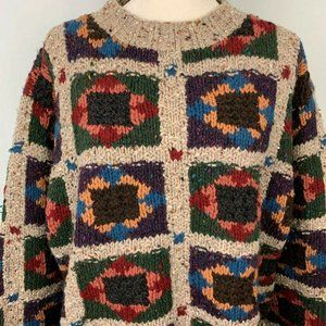 Vintage Woolrich Chunky Knit Wool Sweater XL